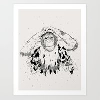 In the shadow of Man Art Print