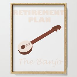 Awesome Banjo's Tshirt Design Retirement plan Serving Tray