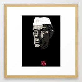 26 - Nehru & his Rose Framed Art Print