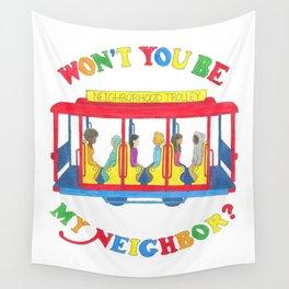 Mister Rogers Neighborhood Trolley Wall Tapestry