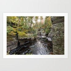 Sturgeon River Canyon in Michigan's Upper Peninsula Art Print