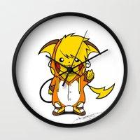 persona Wall Clocks featuring Enter Birdychu by Birdy
