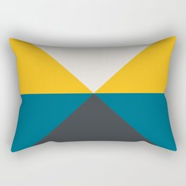 Split X Teal & Yellow Rectangular Pillow