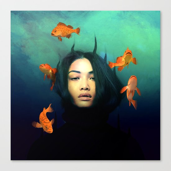 Oracle of Blue  Canvas Print