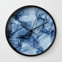 Fifty Shades of Shattered Blue Wall Clock