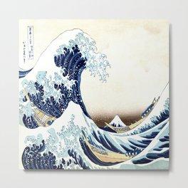 The Great Wave off KanagawA muted Metal Print