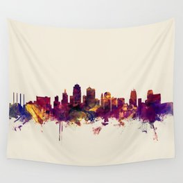 Kansas City Skyline Wall Tapestry