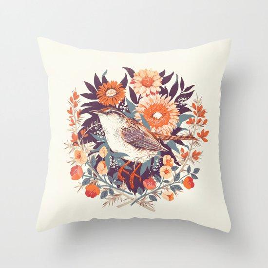 Wren Day Throw Pillow
