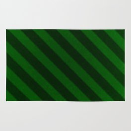 Vintage Candy Stripe Emerald Green Grunge Rug