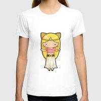 boho T-shirts featuring Boho Kitty by Joanna Zhou