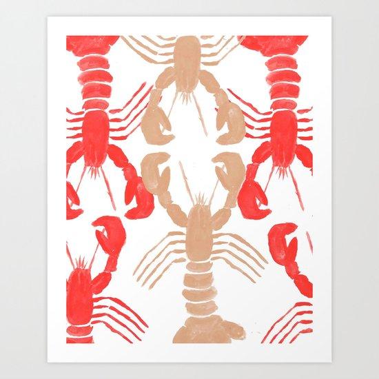 Lobster Print Art Print