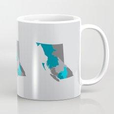 British Columbia Map Print Mug