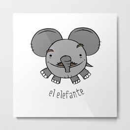 el elefante Metal Print