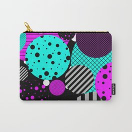 Circles, Bubbles And Stripes Carry-All Pouch