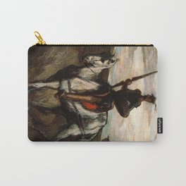 Honore Daumier - Don Quixote in the Mountains Carry-All Pouch