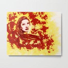 Lucid Bliss (red) - Original Sketch to Digital Metal Print