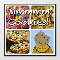 cookies Canvas Prints featuring Cookies by Jolly Songbird