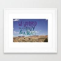 kerouac Framed Art Prints featuring Kerouac: Frenzy + Dream by Leah Flores