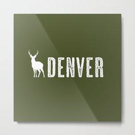 Deer: Denver, Colorado Metal Print