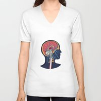 anatomy V-neck T-shirts featuring anatomy by kanakiki