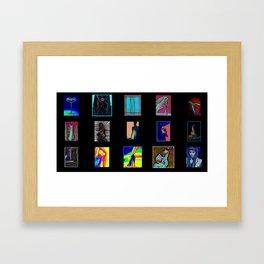 Collage of Aliens  Framed Art Print