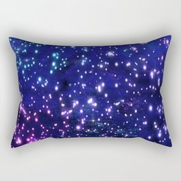 Blue Glow Rectangular Pillow
