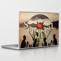 samurai Laptop & iPad Skins featuring samurai by Rosa Picnic