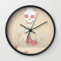 zombie Wall Clocks featuring zombie by siddwills