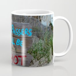 Funny Beach Sign Coffee Mug