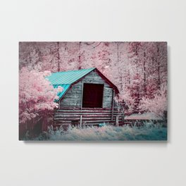 Nestled Barn Among The Forest, Idaho Metal Print