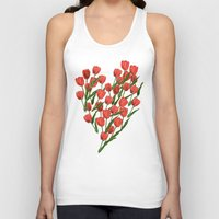 tulips Tank Tops featuring Tulips by June Chang Studio