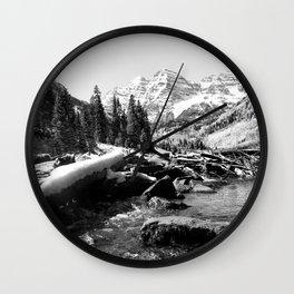 Maroon Bells Mountains Colorado Wall Clock