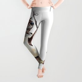 """ Natures Fisherman "" fishing river otter with trout Leggings"