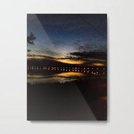 Twilight Reflection Metal Print