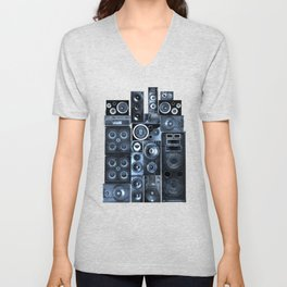 Music Speaker Sound Stack Unisex V-Neck