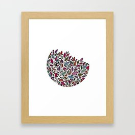 Floral Leaf Illustration *P07 002 Framed Art Print