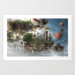 Urban Nature Remixed Art Print