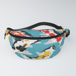 Colorful Koi Carps Swimming Around Fanny Pack