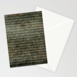 Binary Code with grungy textures Stationery Cards