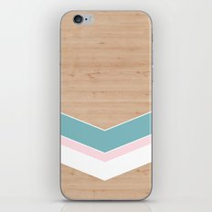 wooden geometric pink and blue iPhone & iPod Skin