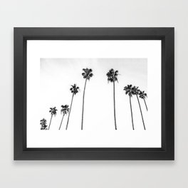 Black + White Palms Framed Art Print