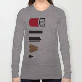 What a pencil looks like Long Sleeve T-shirt