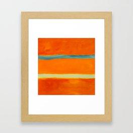 orange blue Framed Art Print