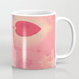 Heart Fractal Art- Abstract Art- Pink Heart- Spirals-Pattern Art- Pop Rockd- Sacred Geometry Coffee Mug