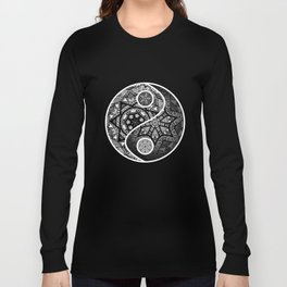 Yin Yang Zentangle Long Sleeve T-shirt