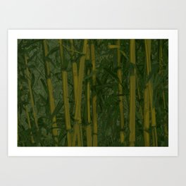 Bamboo jungle Art Print