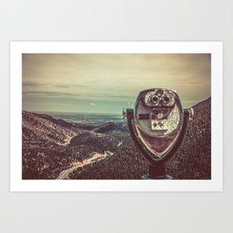 Wanderlust Vintage Tourist Binoculars Art Print