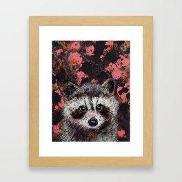 Baby Raccoon Framed Art Print