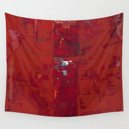 Red Solomon Wall Tapestry