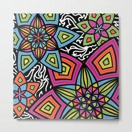 Flower Doodle Metal Print